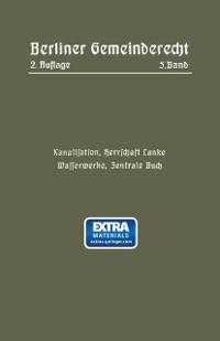 Cover Kanalisation, Herrschaft Lanke, Wasserwerke, Zentrale Buch