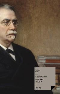 Cover Constitución española de 1876