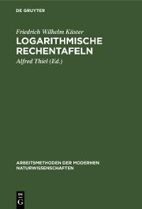 Cover Logarithmische Rechentafeln