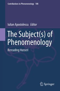 Cover The Subject(s) of Phenomenology
