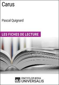 Cover Carus de Pascal Quignard