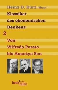 Cover Klassiker des ökonomischen Denkens Band 2