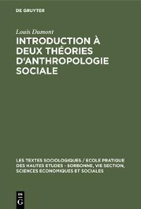 Cover Introduction à deux théories d'anthropologie sociale