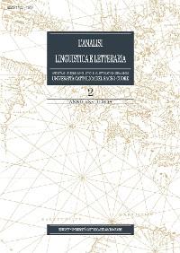Cover L'Analisi Linguistica e Letteraria 2019-2