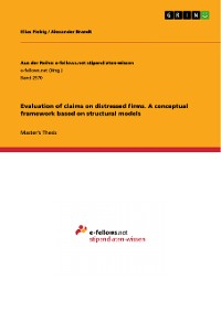 Cover Evaluation of claims on distressed firms. A conceptual framework based on structural models