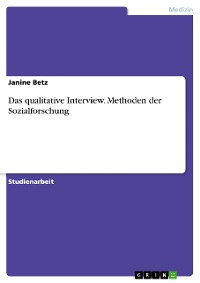 Cover Das qualitative Interview. Methoden der Sozialforschung
