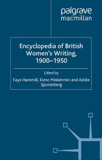 Cover Encyclopedia of British Women's Writing 1900–1950