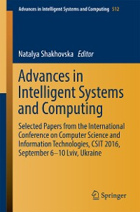 Cover Advances in Intelligent Systems and Computing
