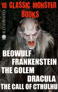 Cover 10 Сlassic Monster books. Illustrated
