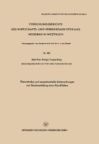 Cover Theoretische und experimentelle Untersuchungen zur Staubverteilung einer Rauchfahne