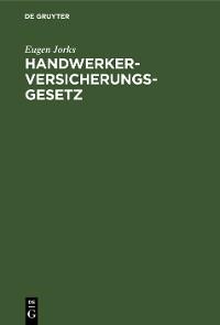 Cover Handwerkerversicherungsgesetz