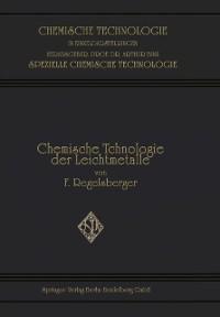 Cover Chemische Technologie der Leichtmetalle und ihrer Legierungen
