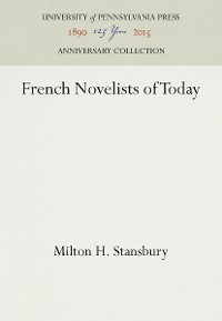Cover French Novelists of Today