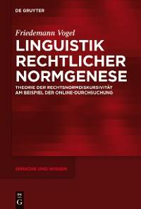 Cover Linguistik rechtlicher Normgenese