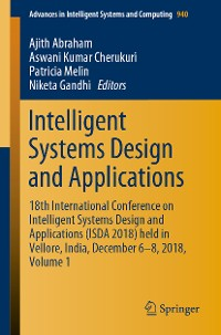 Cover Intelligent Systems Design and Applications