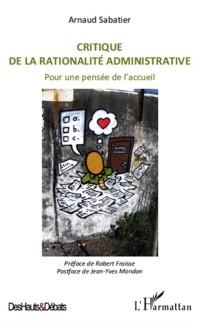 Cover Critique de la rationalite administrative - pour une pensee