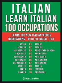 Cover Italian - Learn Italian - 100 Occupations