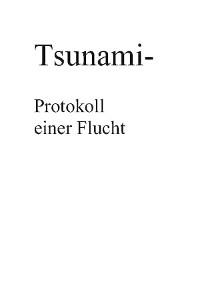 Cover Tsunami- Protokoll einer Flucht