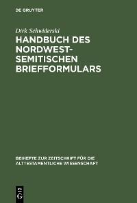 Cover Handbuch des nordwestsemitischen Briefformulars