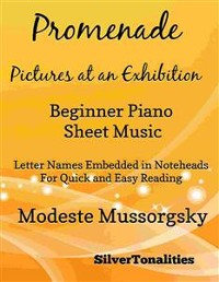 Cover Promenade Pictures at an Exhibition Beginner Piano Sheet Music Tadpole Edition