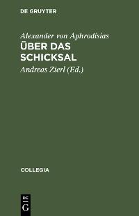 Cover Über das Schicksal