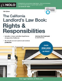 Cover California Landlord's Law Book, The: Rights & Responsibilities