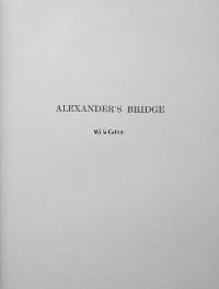 Cover Alexander's Bridge