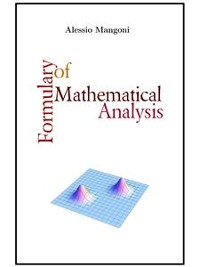 Cover Formulary of mathematical analysis