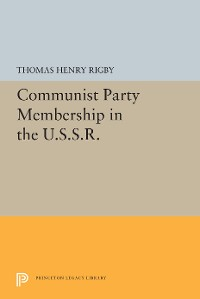 Cover Communist Party Membership in the U.S.S.R.