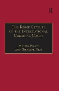 Cover Rome Statute of the International Criminal Court