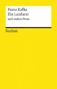 Cover Ein Landarzt und andere Prosa