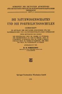 Cover Die Naturwissenschaften und die Fortbildungsschulen