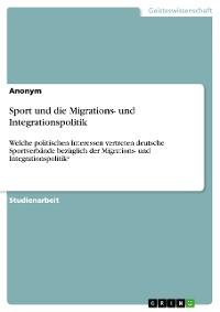 Cover Sport und die Migrations- und Integrationspolitik
