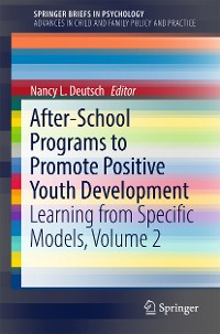 Cover After-School Programs to Promote Positive Youth Development