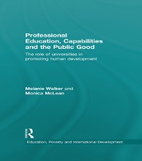 Cover Professional Education, Capabilities and the Public Good