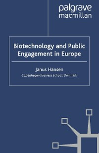 Cover Biotechnology and Public Engagement in Europe