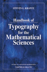 Cover Handbook of Typography for the Mathematical Sciences