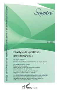 Cover L'analyse des pratiques professionnelles