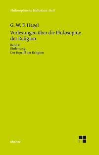 Cover Vorlesungen über die Philosophie der Religion