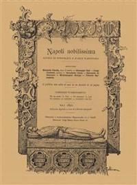 Cover Napoli Nobilissima Volume I (1892)