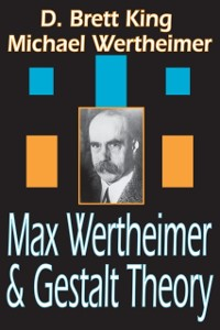 Cover Max Wertheimer and Gestalt Theory