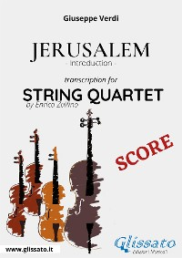 Cover Jerusalem (introduction) String Quartet - Score