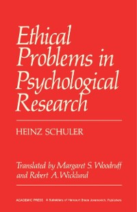 Cover Ethical Problems in Psychological Research