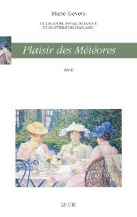 Cover Plaisir des météores