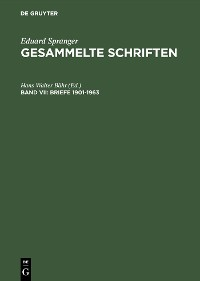Cover Briefe 1901–1963