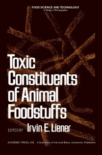 Cover Toxic Constituents of Animal Foodstuffs