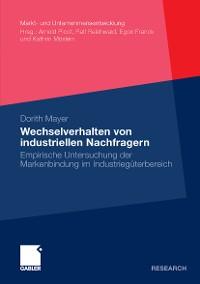Cover Wechselverhalten von industriellen Nachfragern