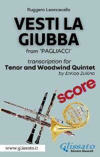 Cover (Score) Vesti la giubba - Tenor & Woodwind Quintet