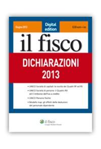 Cover Dichiarazioni 2013