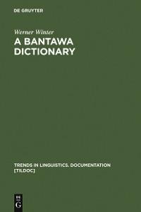 Cover A Bantawa Dictionary